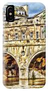 Pulteney Bridge Bath IPhone Case by Paul Gulliver