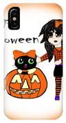 Pumpkin And Halloween Cat IPhone X Case