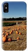 Pumpkin Field IPhone Case