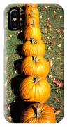 Pumpkins In A Row IPhone Case