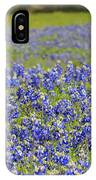 Pup In The Bluebonnets IPhone Case