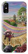 Puppies And Butterflies IPhone Case