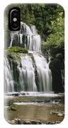 Purakaunui Falls And Tropical IPhone Case