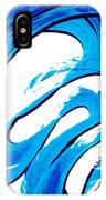 Pure Water 315 - Blue Abstract Art By Sharon Cummings IPhone Case