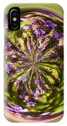 Purpble Wildflower Orb IPhone Case
