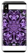Purple Abstract Flower Garden - Kaleidoscope - Triptych IPhone Case