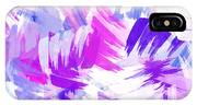 Purple Abstract Paint Pattern IPhone Case