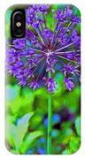 Purple Allium Flower IPhone Case