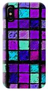 Purple And Aqua Sudoku IPhone Case