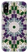 Purple And Green Patchwork Art IPhone Case