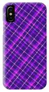 Purple And Pink Diagonal Plaid Fabric Background IPhone Case