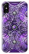 Purple And Silver Celtic Cross IPhone X Case