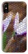Purple And White Crocus IPhone Case