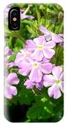 Purple And White Phlox IPhone Case