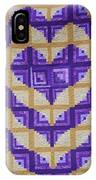 Purple And Yellow Endless Love Log Cabin Quilt IPhone Case
