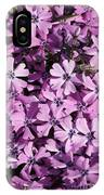 Purple Beauty Phlox IPhone Case