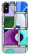 Purple -blue -green  Abstract 2 IPhone Case