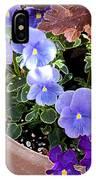 Bright Purple Pansy IPhone Case