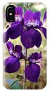Purple Chinese Houses In Park Sierra-ca IPhone Case