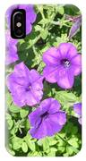 Petunias Purple Club IPhone Case