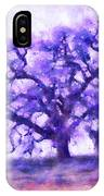 Purple Dreamtime Oak Tree IPhone Case