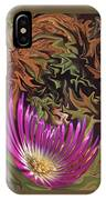 Purple Flower Abstract IPhone Case