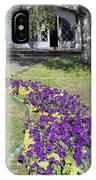 Purple Flowerbed IPhone Case