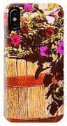 Purple Flowers In Rusty Bucket IPhone Case