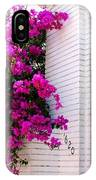 Purple Flowers On White Florida Home IPhone Case