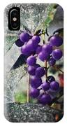 Purple Grapes - Oil Effect IPhone Case
