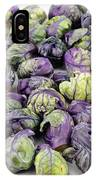 Purple Green Brussels Sprouts IPhone Case