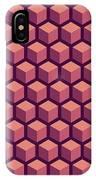 Purple Hexagonal Pattern IPhone Case