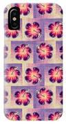 Purple Hibiscus Pattern IPhone Case