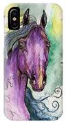 Purple Horse IPhone Case
