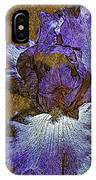 Purple Iris Gold Leaf IPhone Case