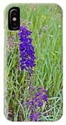 Purple Larkspur In A Meadow In Yellowstone National Park-wyoming IPhone Case