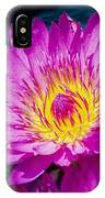 Purple Lily On The Water IPhone Case