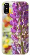 Purple Lupine Flowers IPhone Case