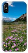 Purple Mountain Flowers IPhone Case