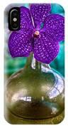 Purple Orchid In Vase IPhone Case