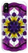 Purple Pansy II Flower Mandala White IPhone Case