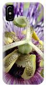 Purple Passion Flower Close Up  IPhone Case