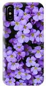 Purple Rockcress IPhone Case