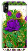 Purple Roses From The Garden 2 IPhone Case