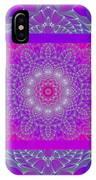 Purple Space Flower IPhone Case