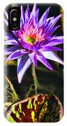 Purple Star Water Lily  By Diana Sainz IPhone Case