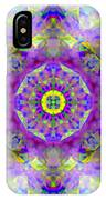 Purple Star Yantra Mandala IPhone Case