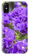 Purple Statice Flower Arrangement IPhone Case