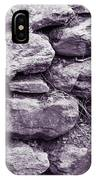 Purple Stone Wall IPhone Case
