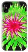 Purple Thistle Flower IPhone Case